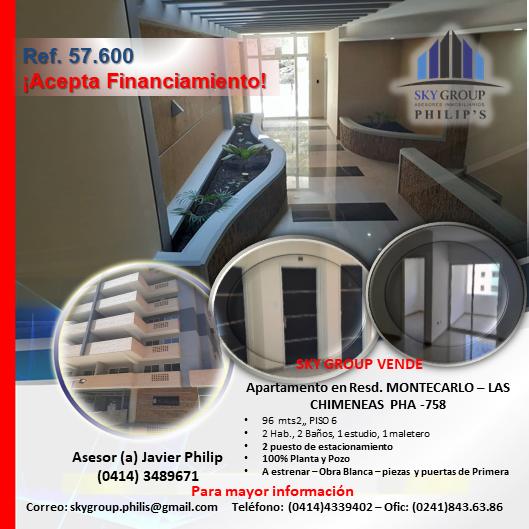 Apartamento, resd. montecarlos – las chimeneas pha-758