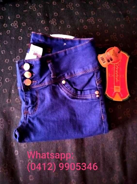 Blue jeans para dama azul índigo bacci