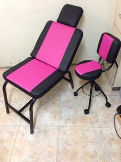 Combo de silla para cejas y maquillaje